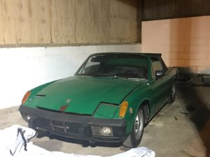 Porsche 914 before restoration
